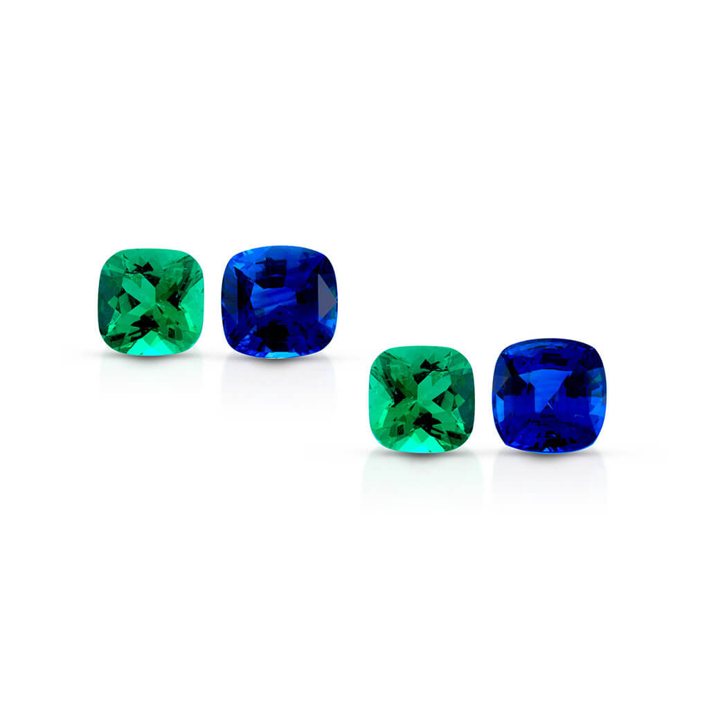 claudia hamann edelstein gmbh Colombian Emerald and Ceylon Sapphire Set
